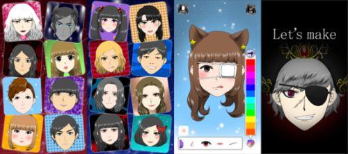 似顔絵メーカーlike-me中二風アプリで作ったアバター