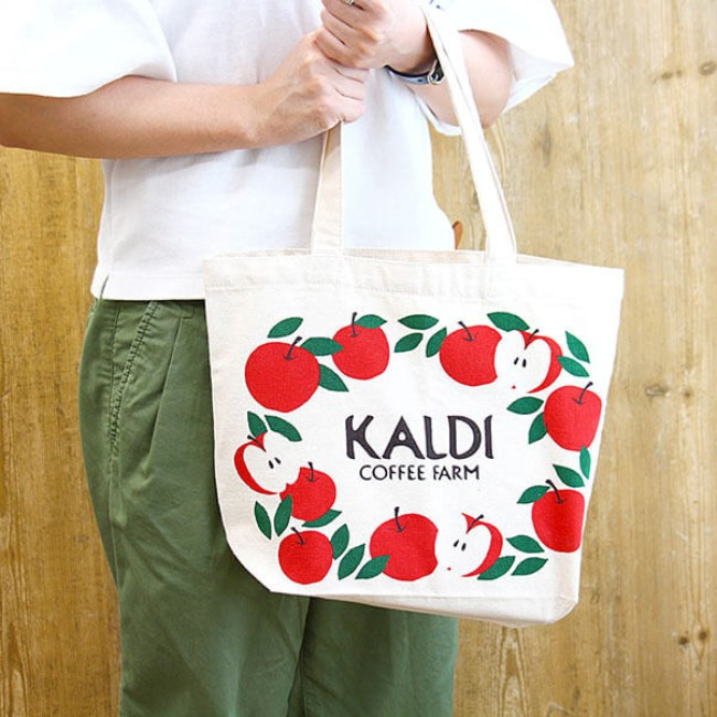 カルディ 限定 バッグ りんごバッグ 2017