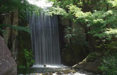 名古屋観光 徳川園 龍門の瀧