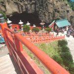 鵜戸神宮境内へ続く朱塗りの階段