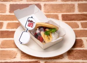 名探偵コナンカフェ 2019 コナンカフェ 名探偵コナンカフェ5周年パンケーキ フルーツとクリームが挟まったパンケーキ
