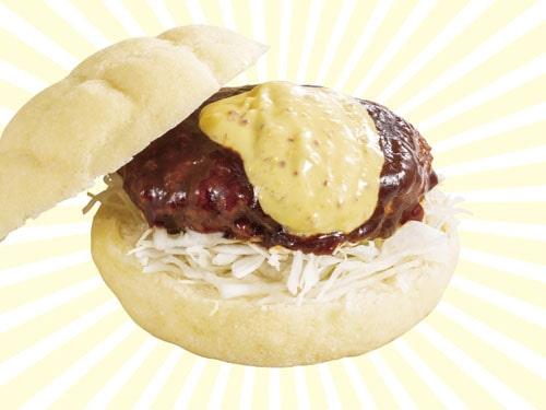 東京ドームおすすめ 人気フード 限定グルメ ドームメロンパンサンド(ハンバーグ)