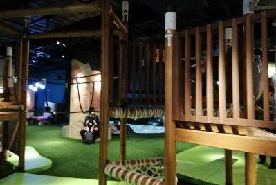 立川高島屋ドコドコ 立川 冒険の島 草原エリア きのこのツリーデッキ 室内遊具場