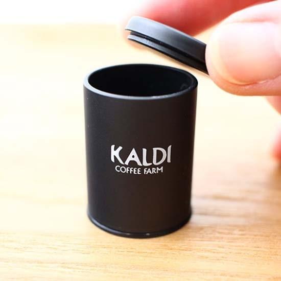 カルディ ミニチュアフィギュア キャニスター缶 ブラック
