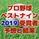 プロ野球 ベストナイン 2019