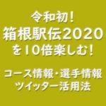 箱根駅伝2020を10倍楽しむ!