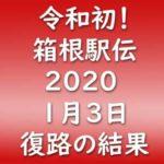 第96回 箱根駅伝2020 復路